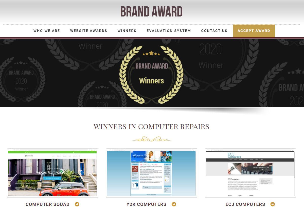Brand Award in 2020